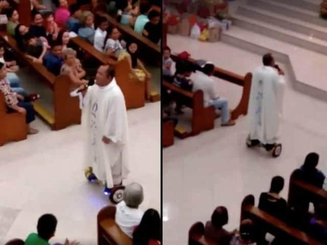 hoverboarding priest
