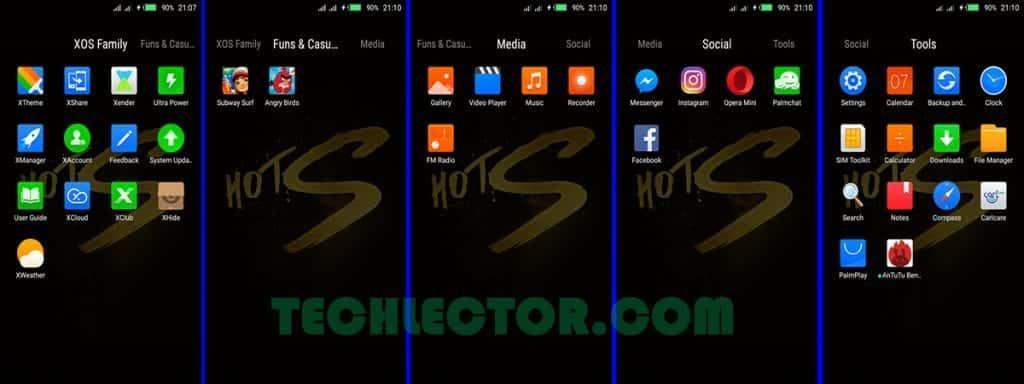 Infinix Hot S XOS Icon Folder