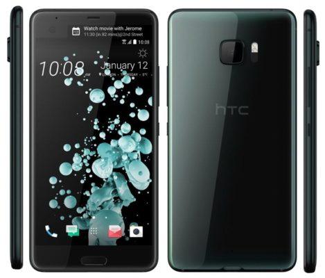 HTC U Ultra Brilliant Black Colour