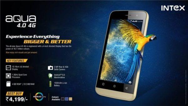 Intex Aqua 4.0 4G