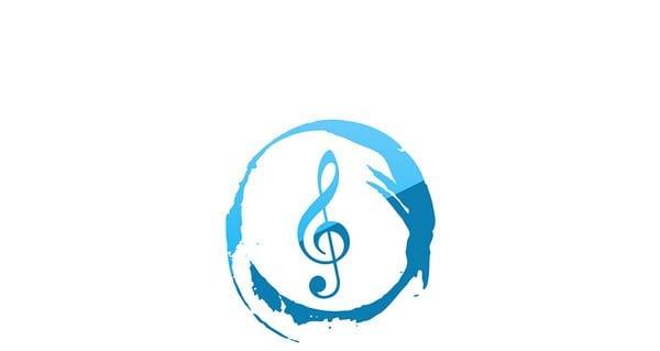 music logo psd template