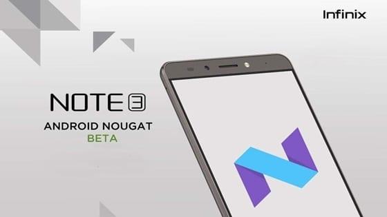 Infinix Note 3 Android 7.0 Nougat Beta