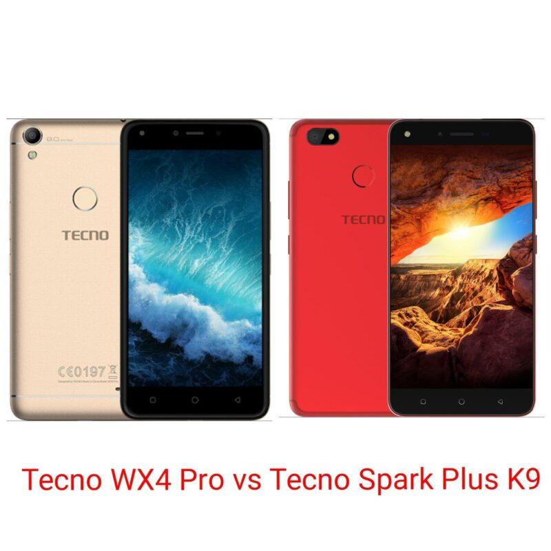 Tecno WX4 Pro vs Tecno Spark Plus K9