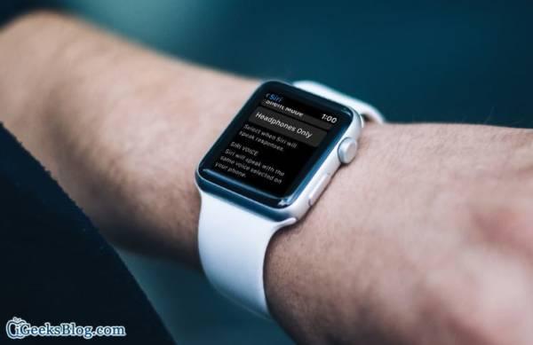 Siri Not Responding on Apple Watch
