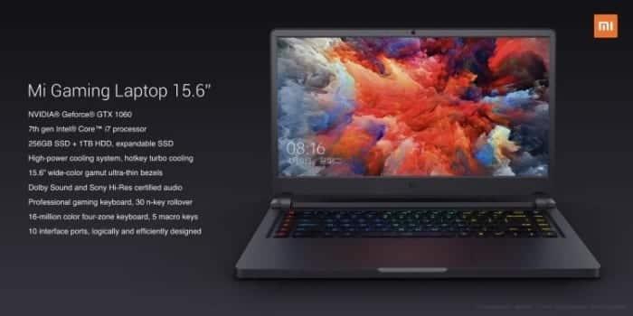 MI Gaming Laptop Caracteristicas 700x350