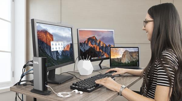 Docking Station on Desktop Computer