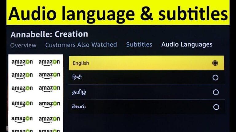 change subtitles and language on Amazon Prime Video