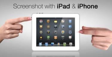 screenshot on an iPad