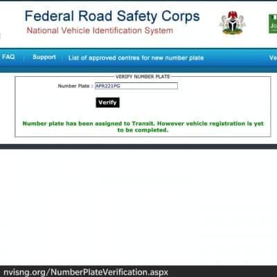 FRSC Verification