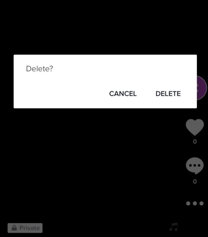 Delete Tik Tok Posts