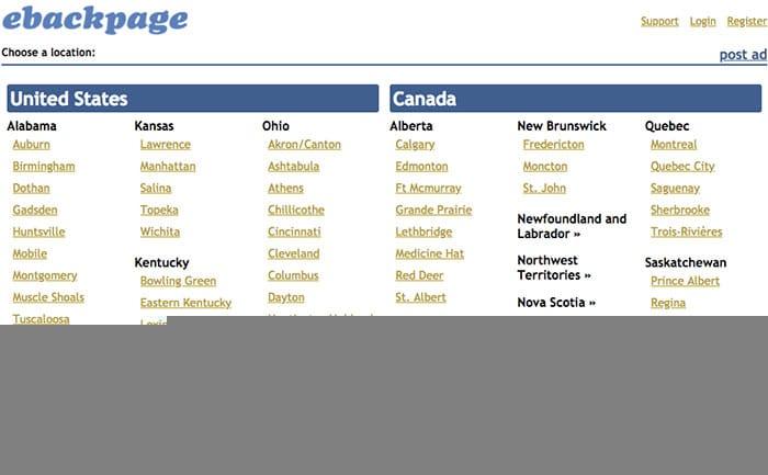 Ebackpage Website