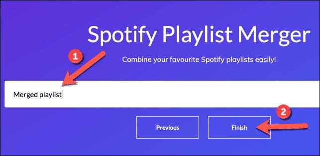 Merge Spotify Playlists