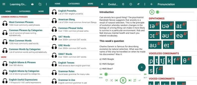 Learning English Listening & Speaking