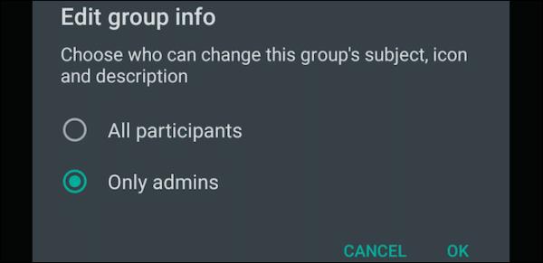 Edit Group Info Admin Settings Whatsapp