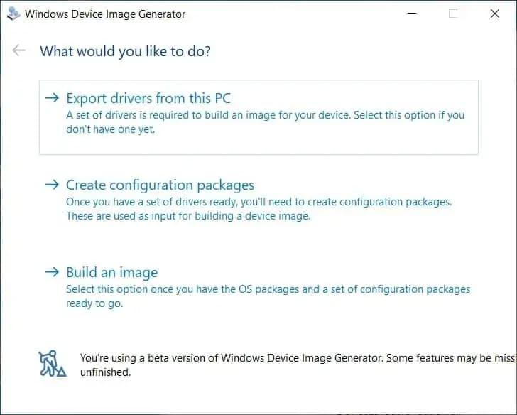 Export Drivers Windows 10x
