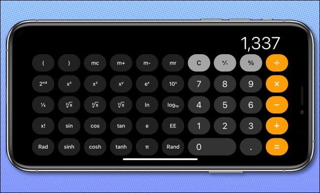 Calculator Horizontal Example