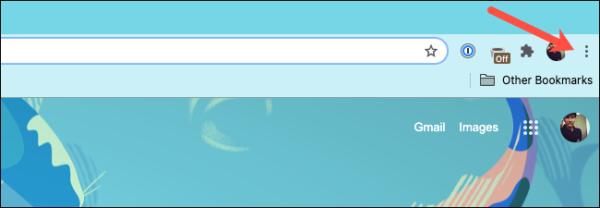 Google Chrome Three Dot Menu