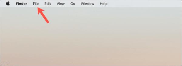 Mac Finder Menu Options