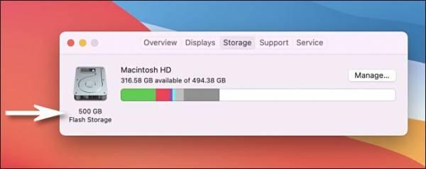 Mac Storage Listed