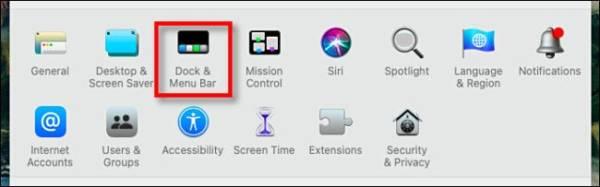 Mac System Preferences Dock Menu Bar