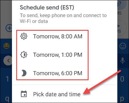 Message Schedule 5