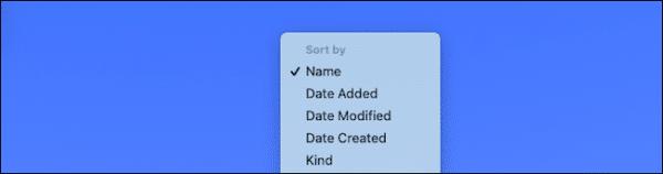 Sort By Mac Dock Folder Option