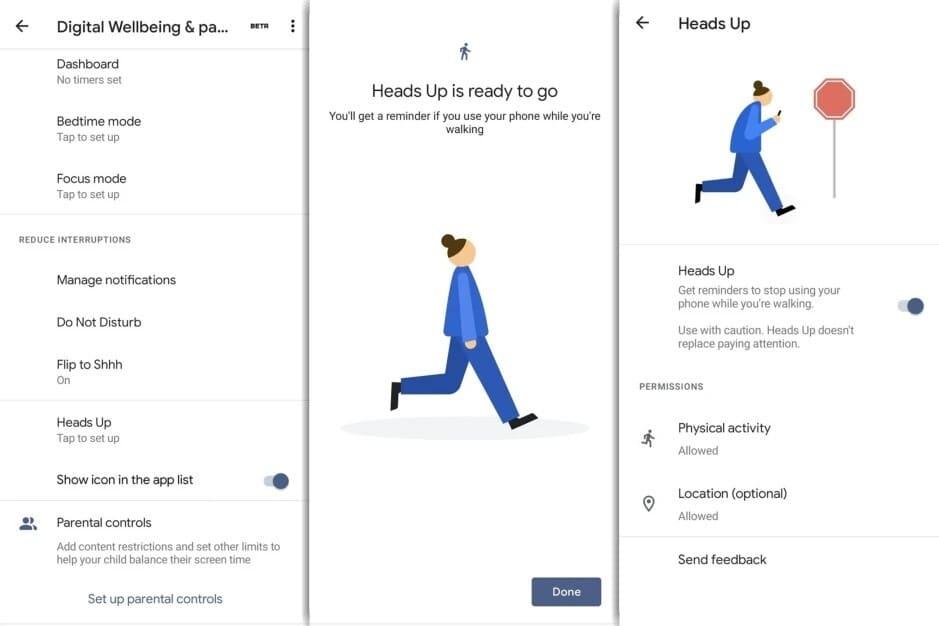 Digital Wellbeing Google Heads Up