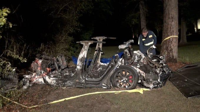 Tesla Car Crash