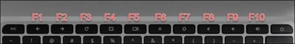 Chromebook Keyboard F