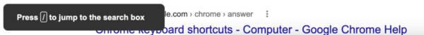 Google Search Shortcut Search Box Return