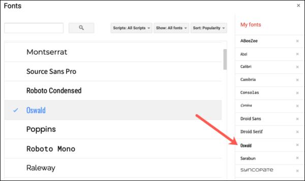 Addmorefonts Googledocs