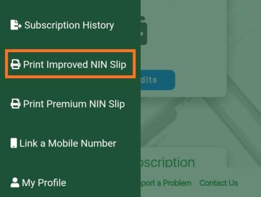 Print Improved NIN Slip (INS)