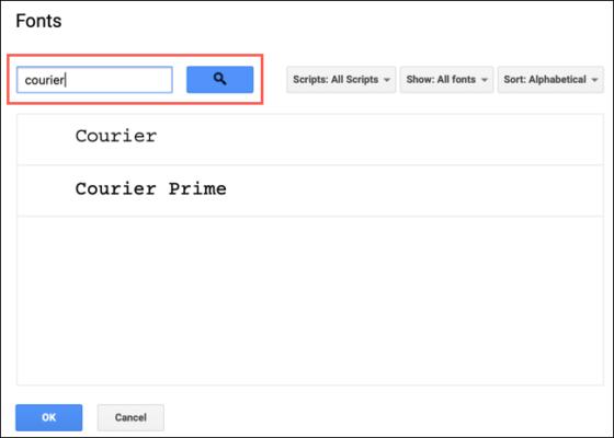 Searchforfonts Googledocs