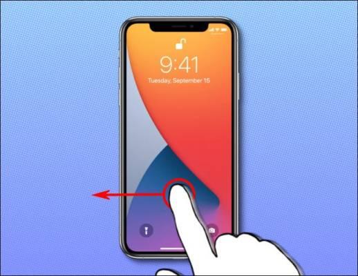 Iphone Swipe Left Lock 2