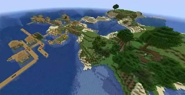 Minecraft Best Seeds Village Island