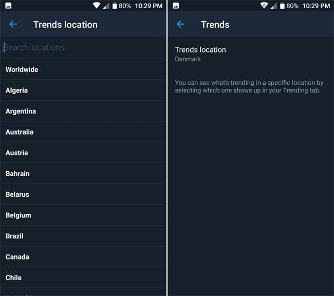 Change Twitter Trends Location