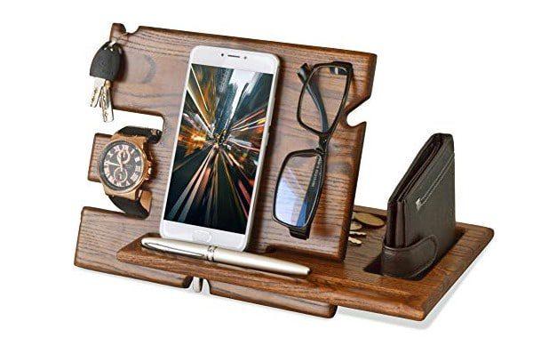 Teslyar Wood Phone Docking Station 1