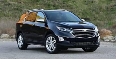 2020 Chevrolet Equinox Premier Dark Blue Front View Small