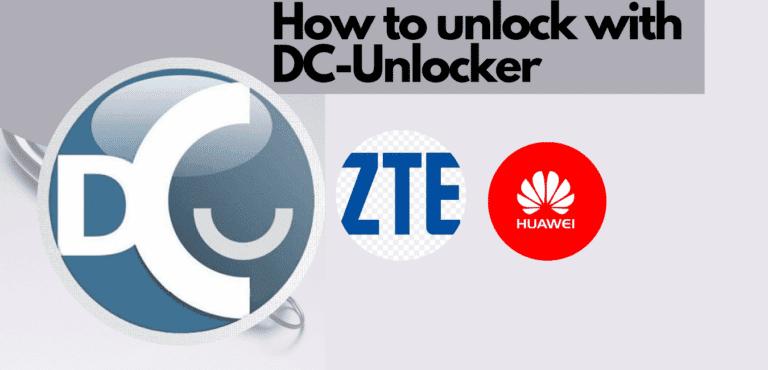 how to unlock modem with DC Unlocker