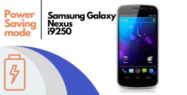 How to Enable Power Saving Mode on Samsung Galaxy Nexus I9250